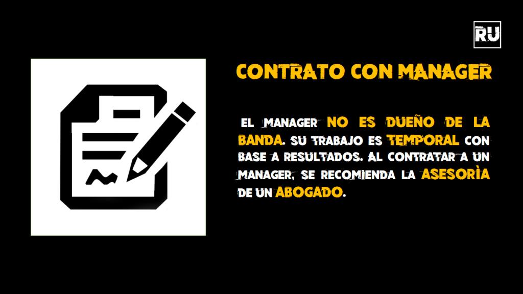 Manager y Contratación de Servicios