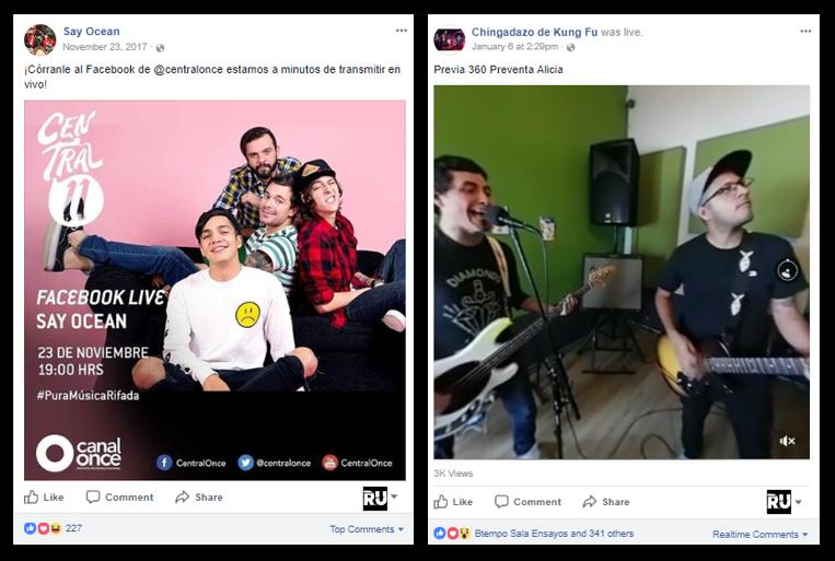 Facebook Live Para Bandas
