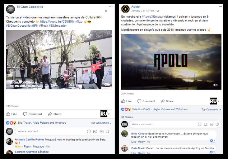 Facebook Videos Para Bandas