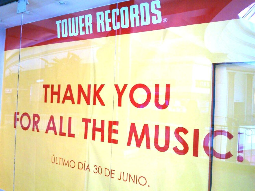 Tower Records Clausura