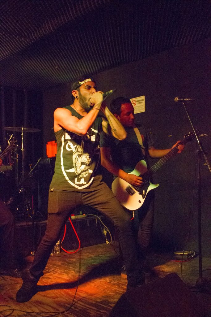 Banda en el escenario