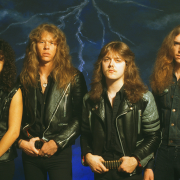 Banda Metallica en 1984 Ride The Lightning Era